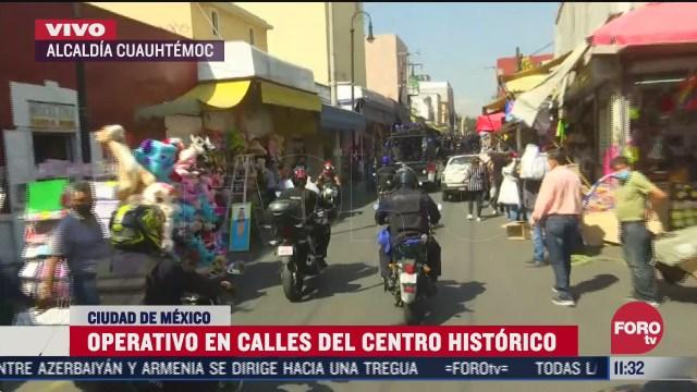 autoridades realizan operativo contra comercio informal en el centro historico cdmx