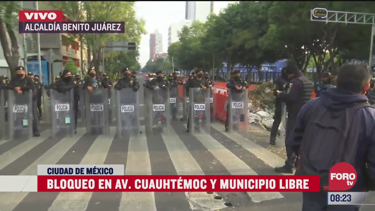 bloqueo en avenida cuauhtemoc y municipio libre