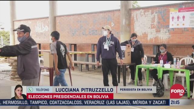 bolivia expectante a los resultados de elecciones presidenciales