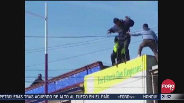 bombero en oaxaca rescata a hombre que intentaba suicidarse