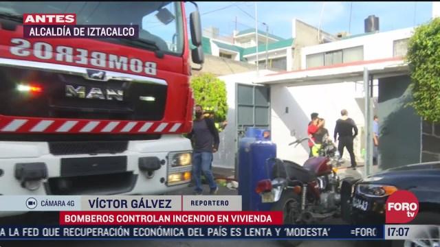 bomberos de cdmx controlan incendio en iztacalco