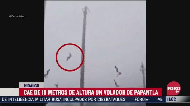 cae volador de papantla de una altura de 10 metros