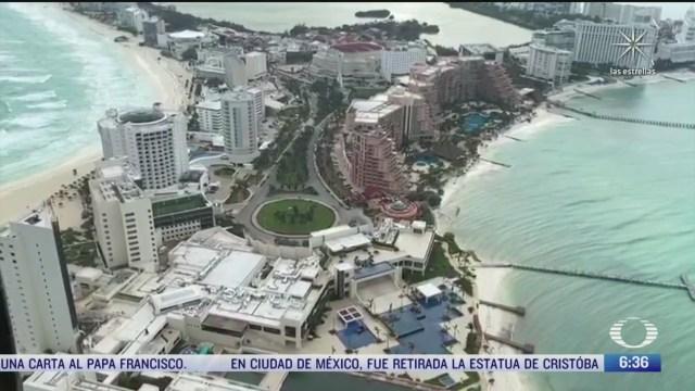 cancun se recupera tras paso de huracan delta