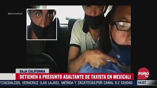 captan asalto a taxi en mexicali