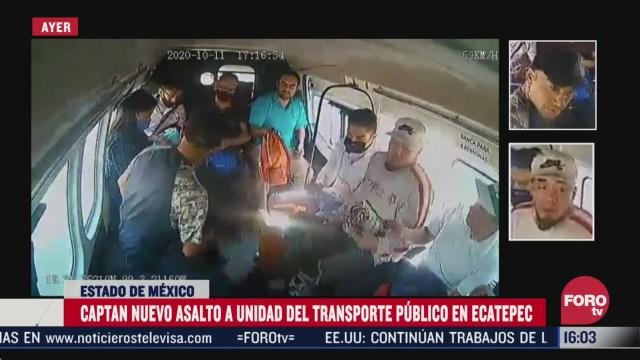captan nuevo asalto a pasajeros de transporte publico en ecatepec