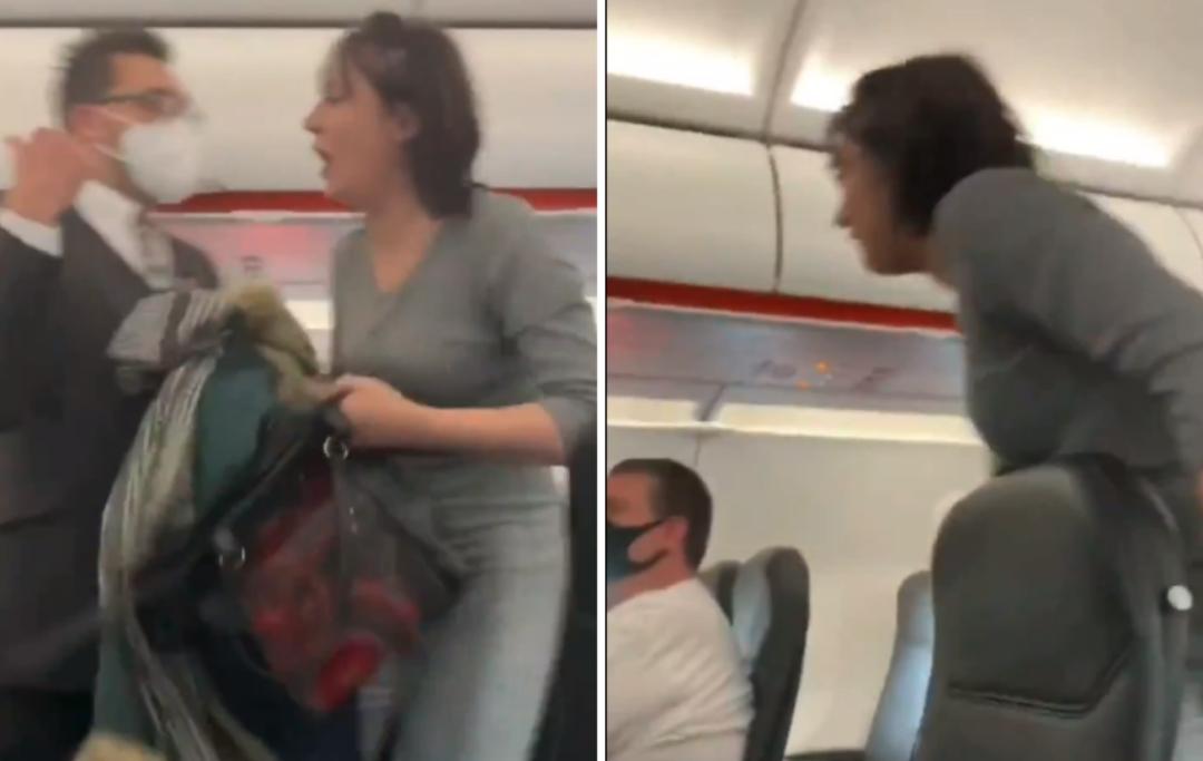 Todos mueren'': Pasajera tose en tripulantes y la sacan del avión (vídeo)