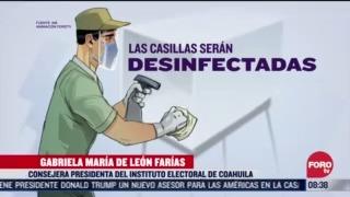 conoce las medidas sanitarias para cuidar la salud de votantes en hidalgo y coahuila