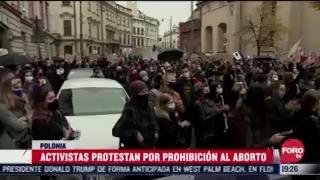 continuan protestas por restricciones al aborto en polonia