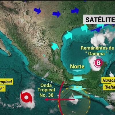 Así se ve desde el espacio el huracán 'Delta'; ya es categoría 4