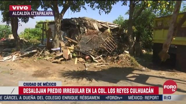 desalojan 10 casas de predio irregular en iztapalapa