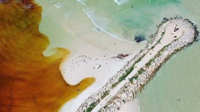 Manto acuífero descarga al mar en Yucatán