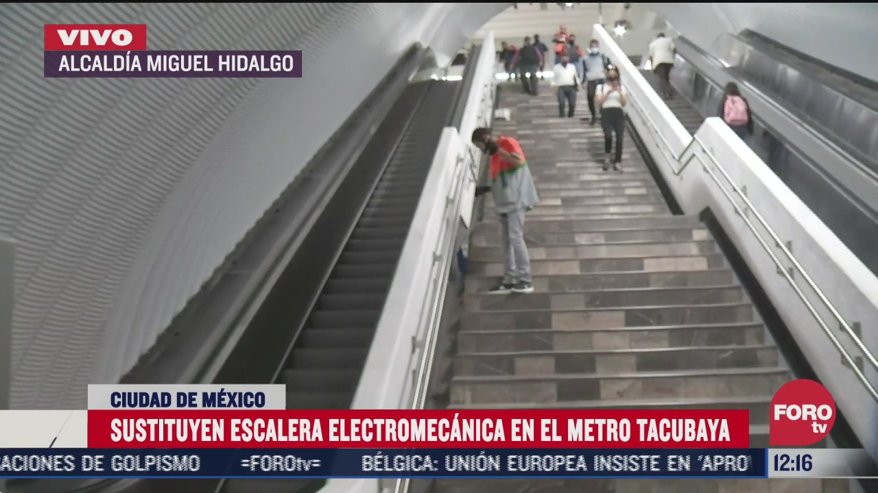 el metro de la cdmx renueva escaleras electricas