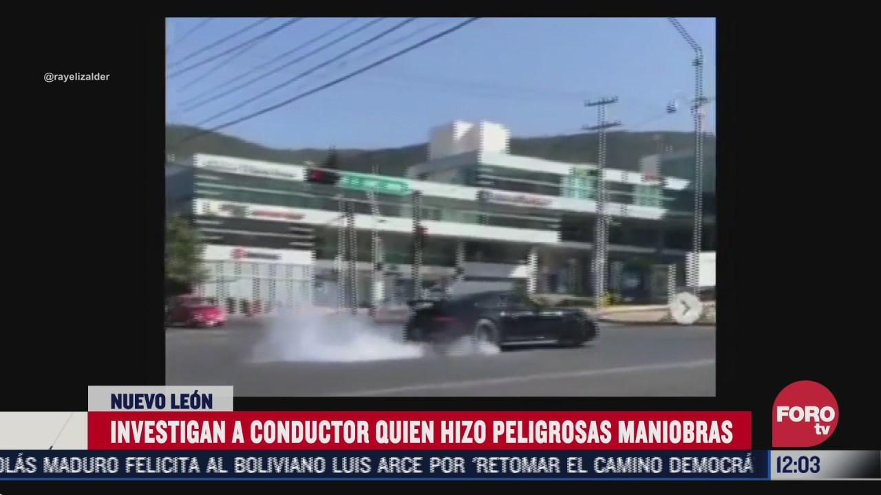 empresario realiza maniobras extremas y derrapones con su auto en via publica de nuevo leon