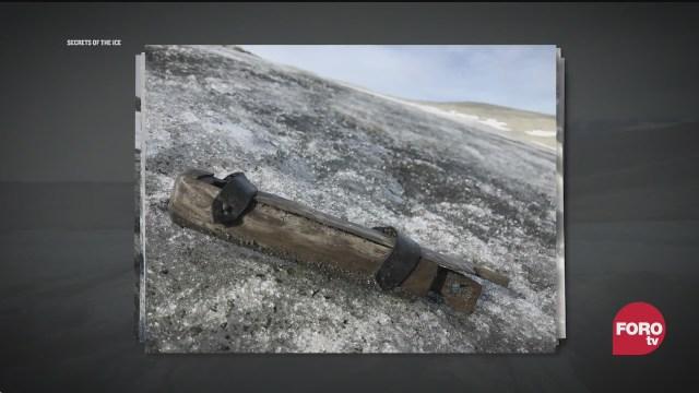 encuentran vestigios vikingos en glaciar