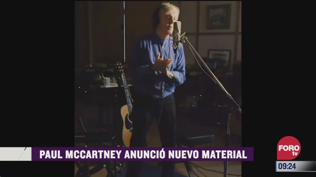 espectaculosenexpreso paul mccartney anuncio nuevo material