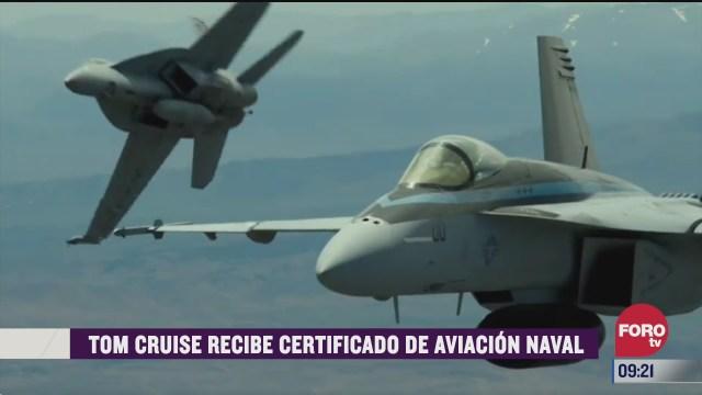 espectaculosenexpreso tom cruise recibe certificado de aviacion