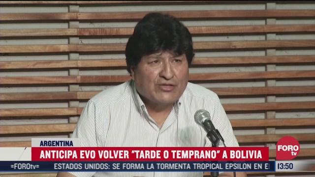 evo morales anticipa que regresara a bolivia