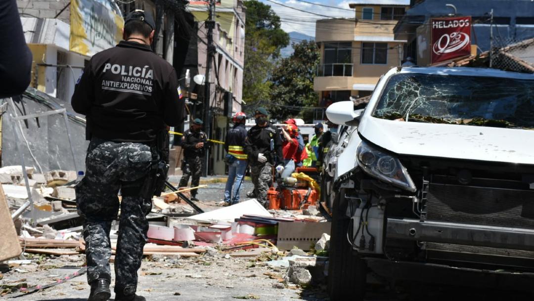 Según testigos, el accidente se produjo por la explosión de una bombona de gas de uso doméstico en el lugar de comida