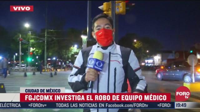 fgjcdmx investiga robo de equipo medico