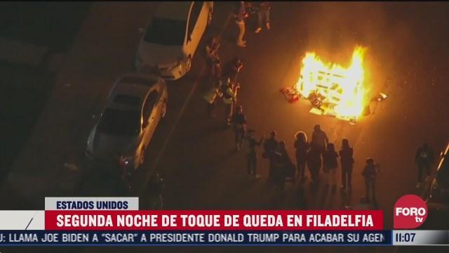 filadelfia mantiene toque de queda ante protestas