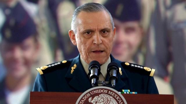 El general Salvador Cienfuegos, secretario de la Defensa Nacional durante el gobierno del expresidente Enrique Peña Nieto