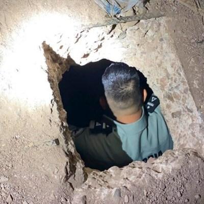 Guardia Nacional localiza un túnel que conecta con EEUU en Nogales, Sonora