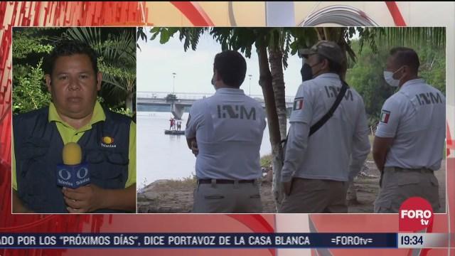 guardia nacional resguarda frontera en chiapas ante llegada de caravana migrante