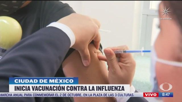 habitantes de la cdmx se aplican vacuna contra la influenza