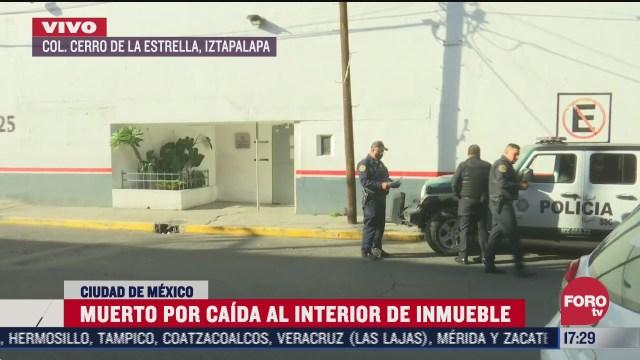 hombre muere tras sufrir una caida al interior de un almacen en iztapalapa
