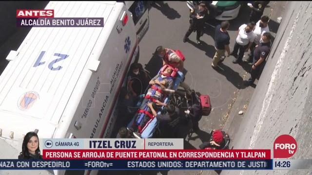 hombre se arroja de puente peatonal en benito juarez