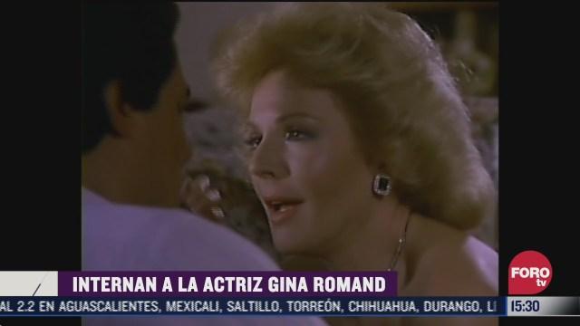hospitalizan a la actriz gina romand una leyenda de la epoca de oro del cine mexicano