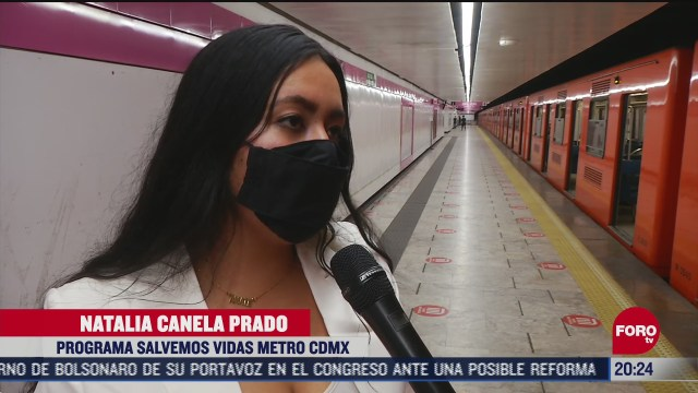 implementan programa salvemos vidas en el metro de cdmx