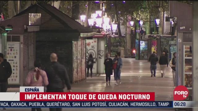 implementan toque de queda en espana por covid