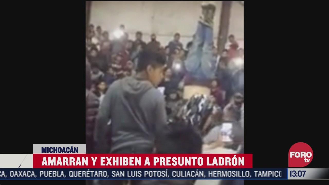 intentan linchar a ladron en michoacan