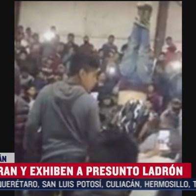 Intentan linchar a ladrón en Michoacán