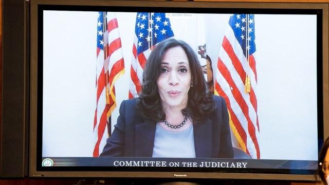 La candidata demócrata a la Vicepresidencia de Estados Unidos, Kamala Harris