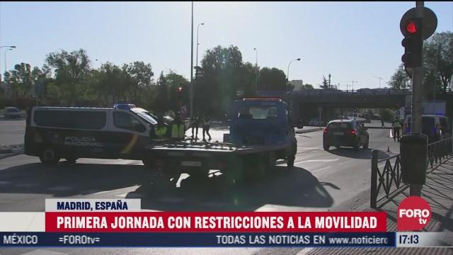 madrid implementa primera jornada de segundo confinamiento