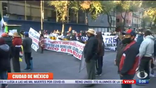 manifestantes intentan ingresar al zocalo de la cdmx