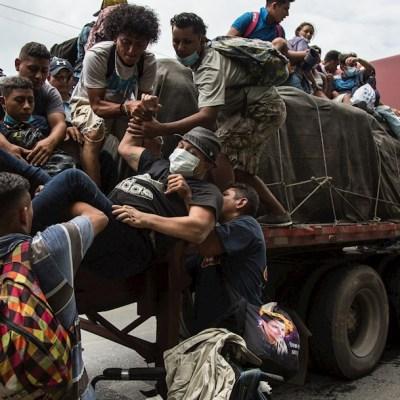 Guatemala detiene a 2 mil migrantes de la caravana de hondureños hacia Estados Unidos