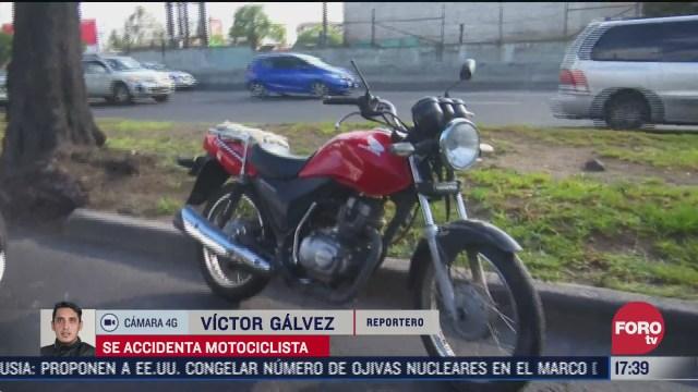 motociclista resulta accidentado en iztapalapa