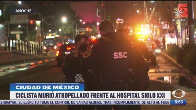 muere ciclista atropellado frente al hospital siglo xxi en cdmx