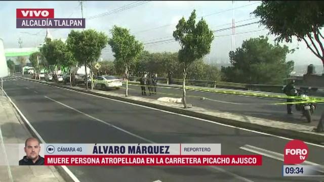 muere persona atropellada en la carretera picacho ajusco