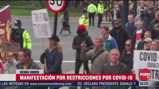 nuevas protestas en londres contra confinamientos por covid