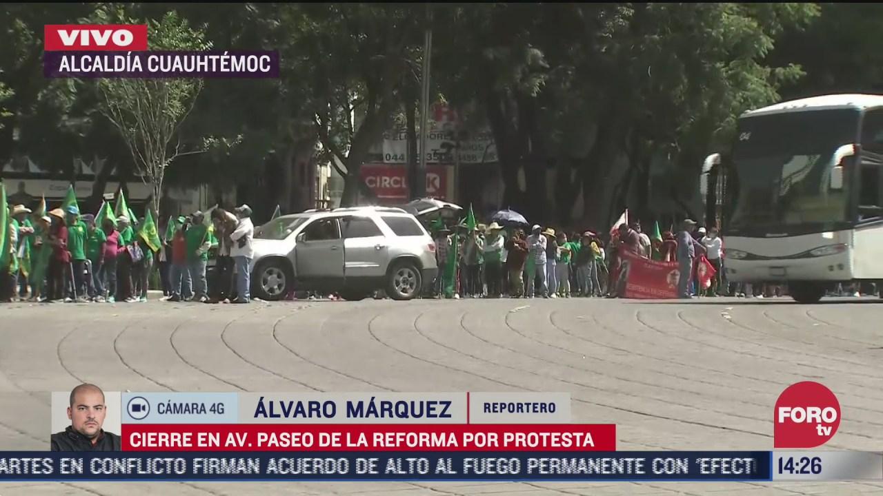 organizaciones campesinas bloquean paseo de la reforma 23 de octubre
