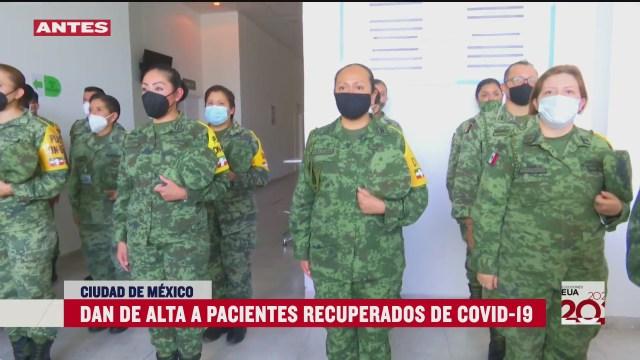 pacientes recuperados de covid 19 agradecen a personal medico de sedena