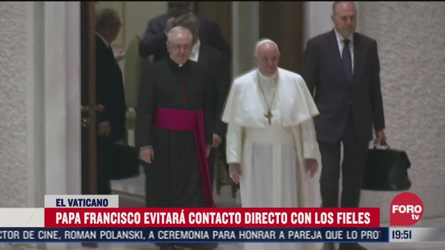 papa francisco volvera evitar contacto con fieles por rebrotes