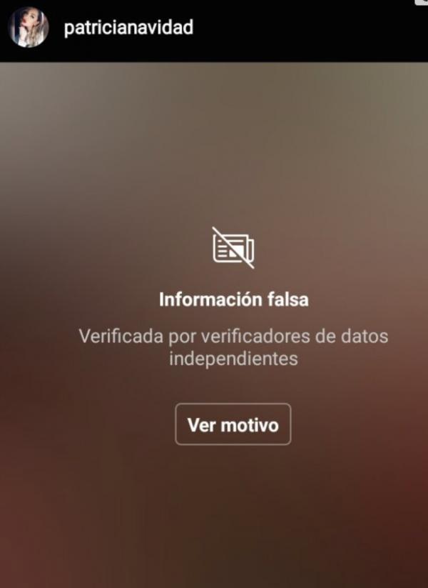 Instagram oculta publicaciones de Paty Navidad por compartir información falsa