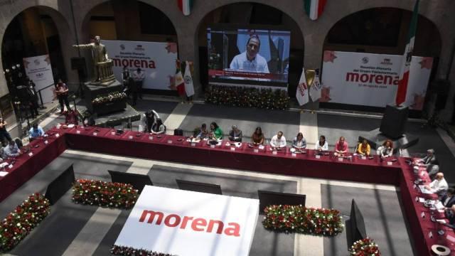 El presidente nacional de Morena, Alfonso Ramírez Cuéllar, dijo que el partido no reconoce los resultados preliminares de las elecciones de este domingo en Coahuila e Hidalgo