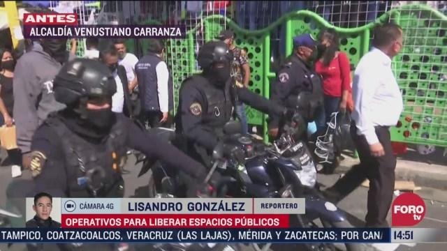 policia capitalina libera carriles confinados en la merced