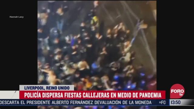 policia dispersa fiestas callejeras en reino unido para evitar covid